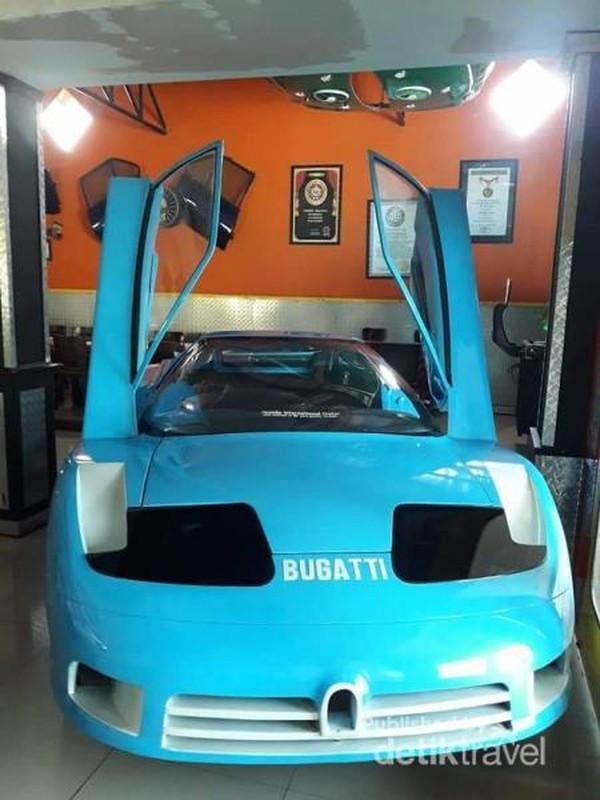 Replika mobil Buggati yang unik.