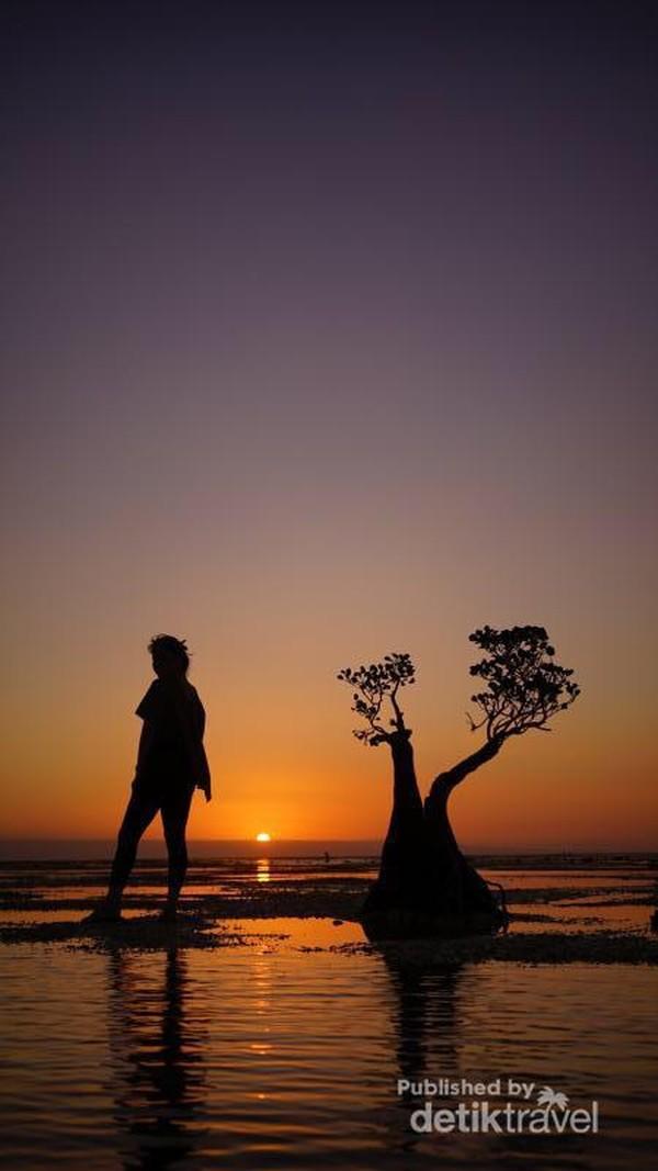 Gradasi warna sunset Walakiri