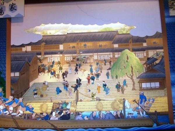 Potret kehidupan masyarakat Osaka masa lalu.