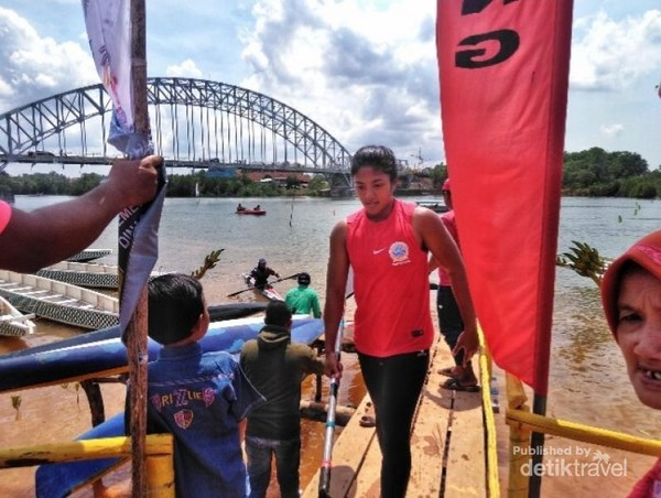 Salah satu peserta kayak dari indonesia, atlet DKI Jakarta