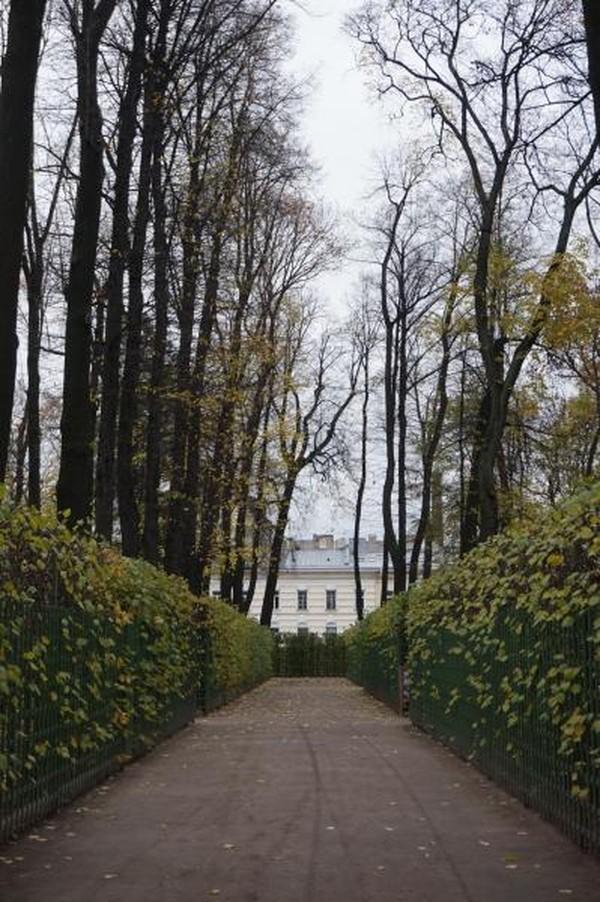 Yang bisa dinikmati saat musim gugur adalah menguningnya pepohonan di taman yang memiliki Coffee House dan Tea House ini