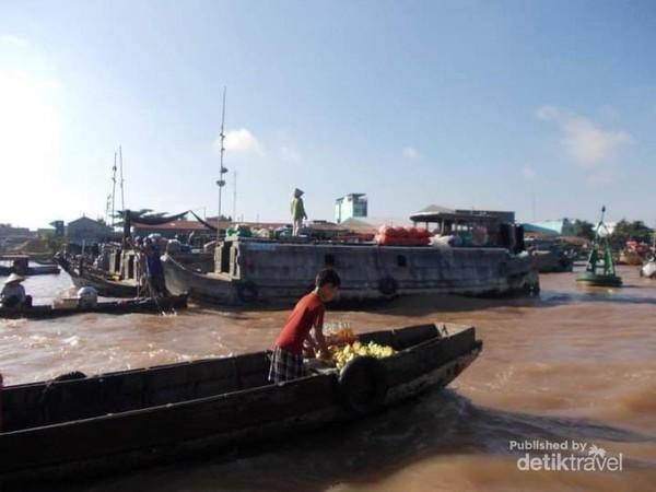 Potret pasar terapung Cai Rang Can Tho