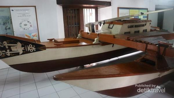Kapal Cadik Nusantara, koleksi Museum Bahari yang selamat dari musibah kebakaran beberapa waktu lalu