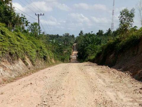 Jalan Lhoksukon arah Buket Hagu, Aceh Utara. (Dok Desa Buket Hagu)