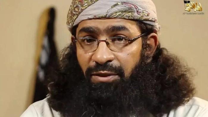 An image grab taken from a video released by Al-Malahem Media, the media arm of Al-Qaeda in the Arabian Peninsula (AQAP), shows Khaled Batarfi in a video posted online on June 15, 2015 HO AL-MALAHEM MEDIA/AFP/File