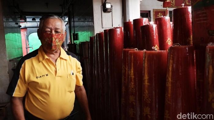 Penjualan lilin menjelang imlek di Bandung menurun