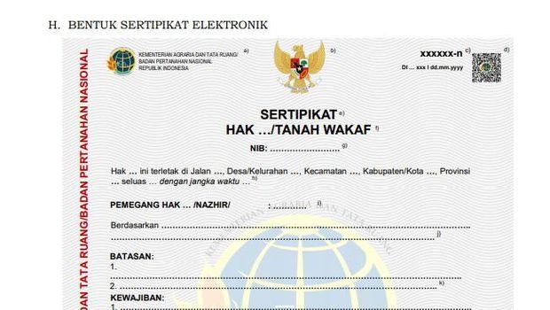 sertifikat tanah elektronik atau sertipikat-el