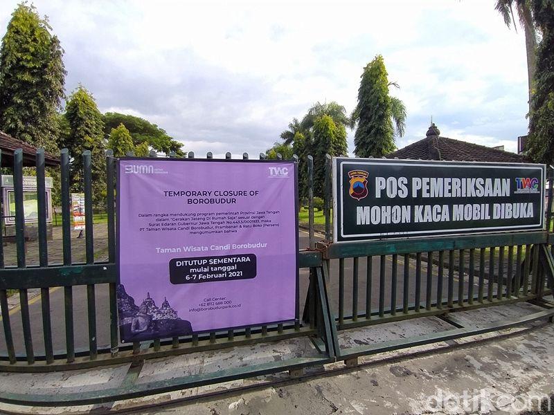 Candi Borobudur Tutup saat Jateng di Rumah Saja