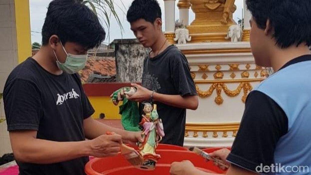 Perayaan Imlek di Klenteng Poo An Kiong Blitar Tiadakan Pertunjukan Barongsai