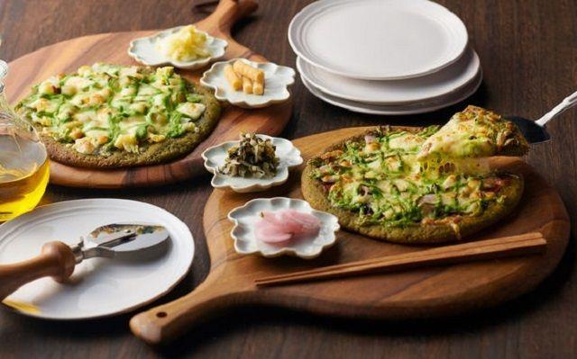 Pizza Matcha yang Gurih Creamy Ini Dibuat Gerai Teh 189 Tahun