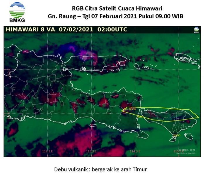BMKG Banyuwangi Sebut Sebaran abu Gunung Raung Menyebar hingga ke Lombok NTB
