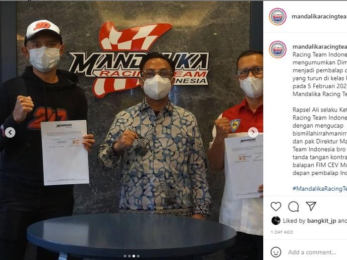 Dimas Ekky jadi pebalap Mandalika Racing Team Indonesia
