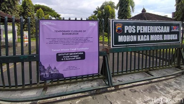 Gerakan Jateng di Rumah saja, Candi Borobudur Sepi