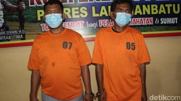 2 anak buah bandar sabu di Labuhanbatu ditangkap. Mereka ditembak karena melawan (Ahmad FIM/detikcom)