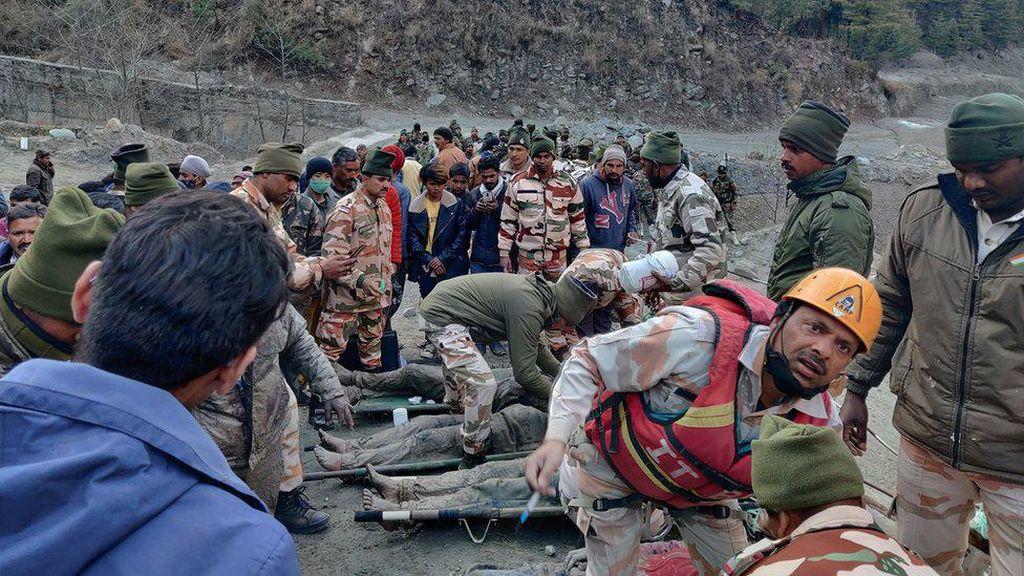 3 Jasad Korban Tsunami Himalaya di Terowongan India Ditemukan
