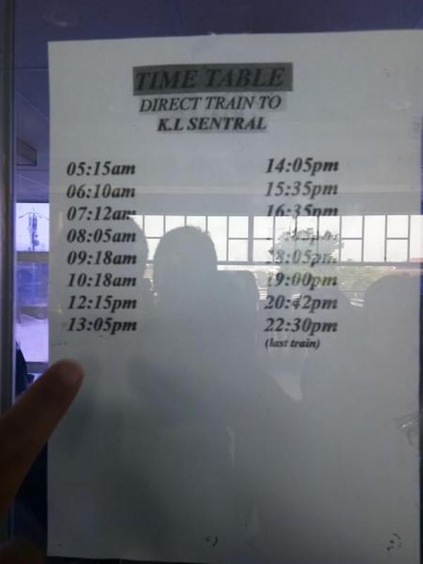 Jadwal Kereta dari Batu Caves Menuju KL Sentral