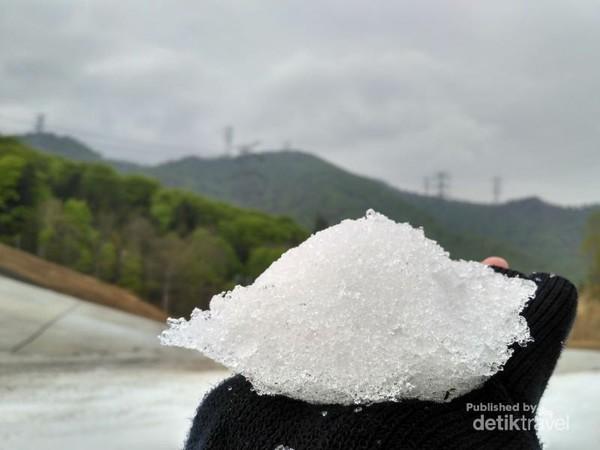 Bukan es serut, ini salju.