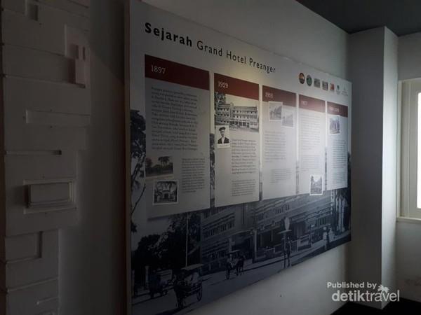 Informasi mengenai sejarah Hotel Grand Prenger yang sudah ada sejak 1897 dengan nama Hotel Preanger