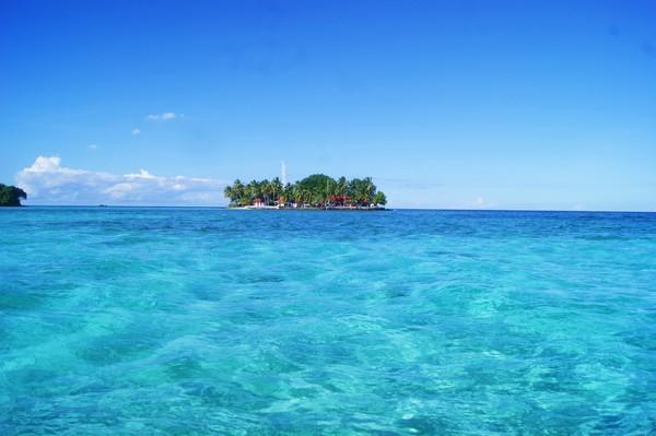 Pulau Sawah di dekat Pulau Samber Gelap