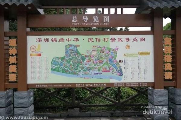 Jangan lupa pelajari peta terlebih dahulu daripada tersesat. Splendid China memiliki luas wilayah sekira 30 hektar dan merupakan Cultural Theme Park pertama yang dibangun di China, serta mendapatkan rating National 5A tourist attraction
