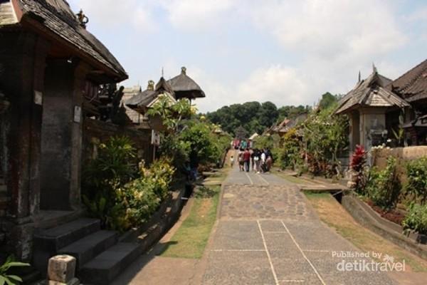 suasana desa Wisata alam perkampungan Penglipuran