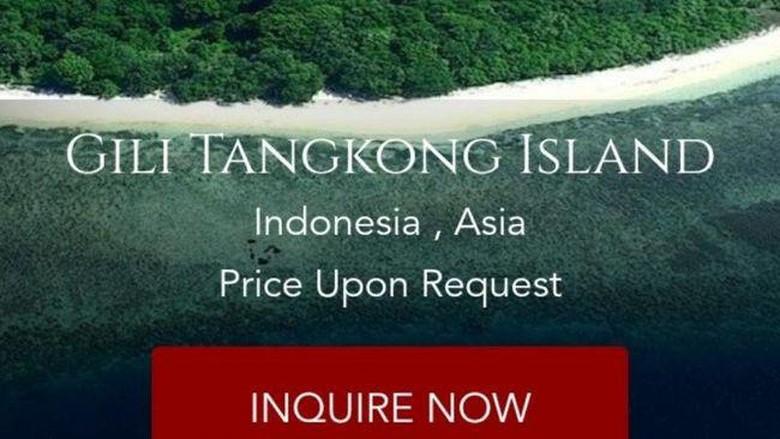 Pulau Indonesia dijual di situs Private Islands Inc.
