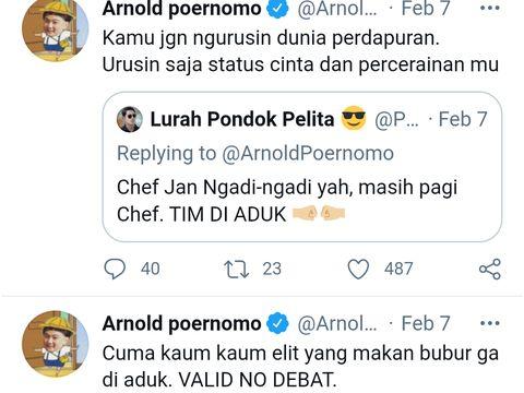 Valid No Debat! Chef Arnold Tegaskan Dirinya Tim Bubur Tak Diaduk