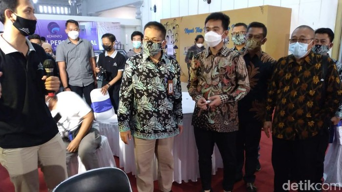 Gibran Rakabuming Raka di Monumen Pers Nasional, Solo, Selasa (9/2/2021).