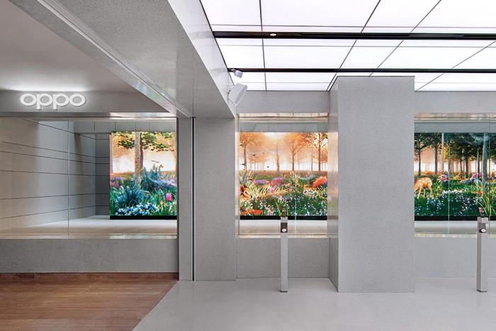 Instalasi seni di OPPO Gallery