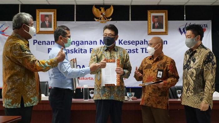 PT Waskita Beton Precast Tbk menandatangani MoU dengan perusahaan Jepang untuk proyek konstruksi dalam bidang keairan.