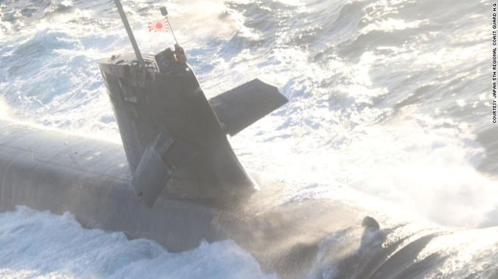 Kapal Selam Jepang Tabrakan dengan Kapal Komersial di Pasifik
