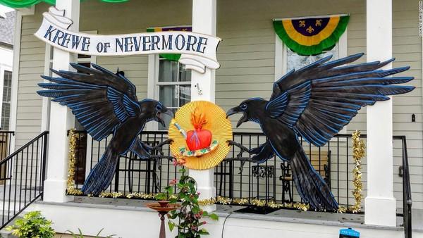 Mereka totalitas dalam mendesain rumah demi Mardi Gras.(CNN)