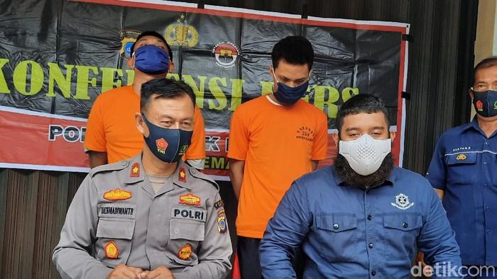 Pelaku pembacokan di Janti, Sleman, Minggu (7/2/2021)