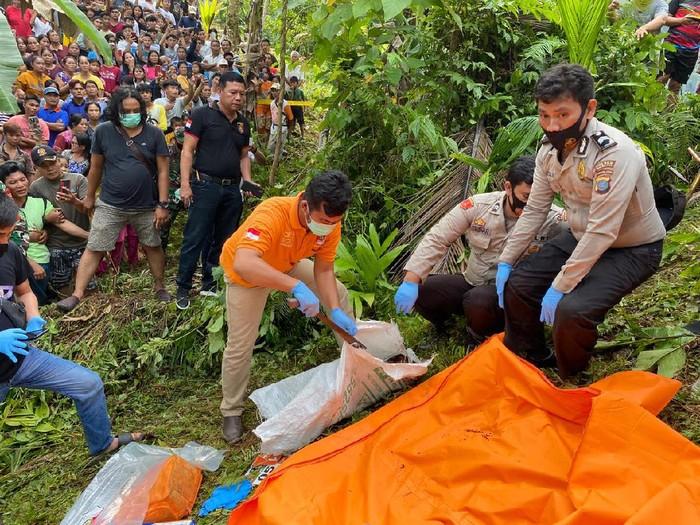 Penemuan mayat dalam karung di Nias Selatan (dok. Istimewa)