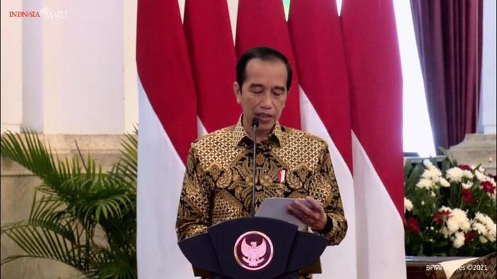 Presiden Jokowi di Hari Pers Nasional (Foto: Tangkapan layar YouTube Setpres)