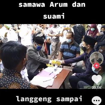 Viral video Eka Prihatiningrum yang menjalani ijab kabul di depan jenazah ayah tercinta