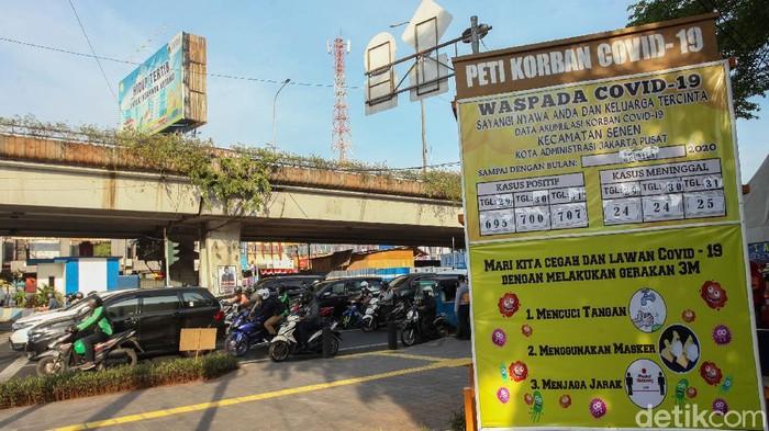 Tugu peti mati COVID-19 yang digalakkan Pemprov DKI Jakarta hilang tanpa bekas. Salah satunya di kawasan Senen.