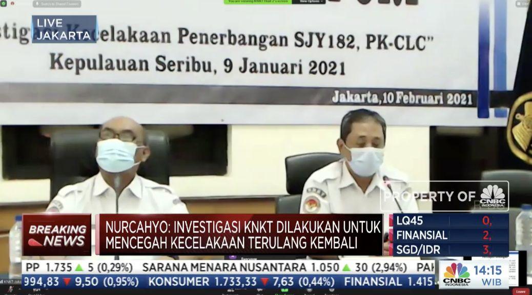 Hasil Investigasi KNKT, Kecelakaan Sriwijaya SJ 182