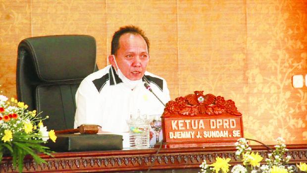 Ketua DPRD Kota Tomohon Jimmy Sundah (Trisno Mais/detikcom)