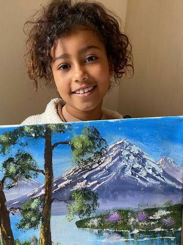 Lukisan North West, anak Kim Kardashian.