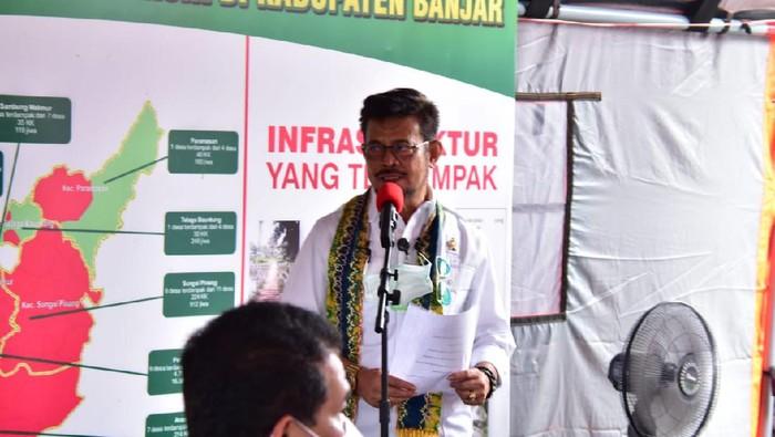 Mentan Syahrul Yassin Limpo di Kalsel (Foto: Risanta/detikcom)