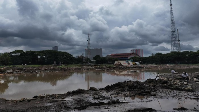 Pembangunan Stadion Mattoanging Makassar (Foto: Ibnu Munsir/detikcom)