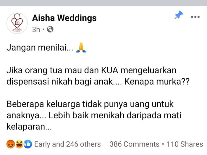 Wedding organizer viral di Facebook.