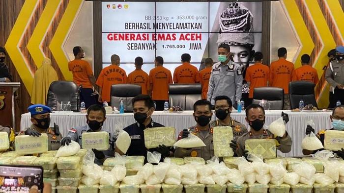Bareskrim Gagalkan Penyelundupan 353 Kg Sabu dari Malaysia, Dikendalikan Napi di Aceh (Foto: dok. Istimewa)