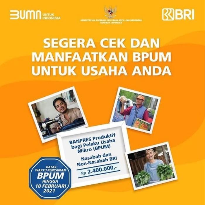 BLT UMKM Rp 2,4 juta atau BPUM