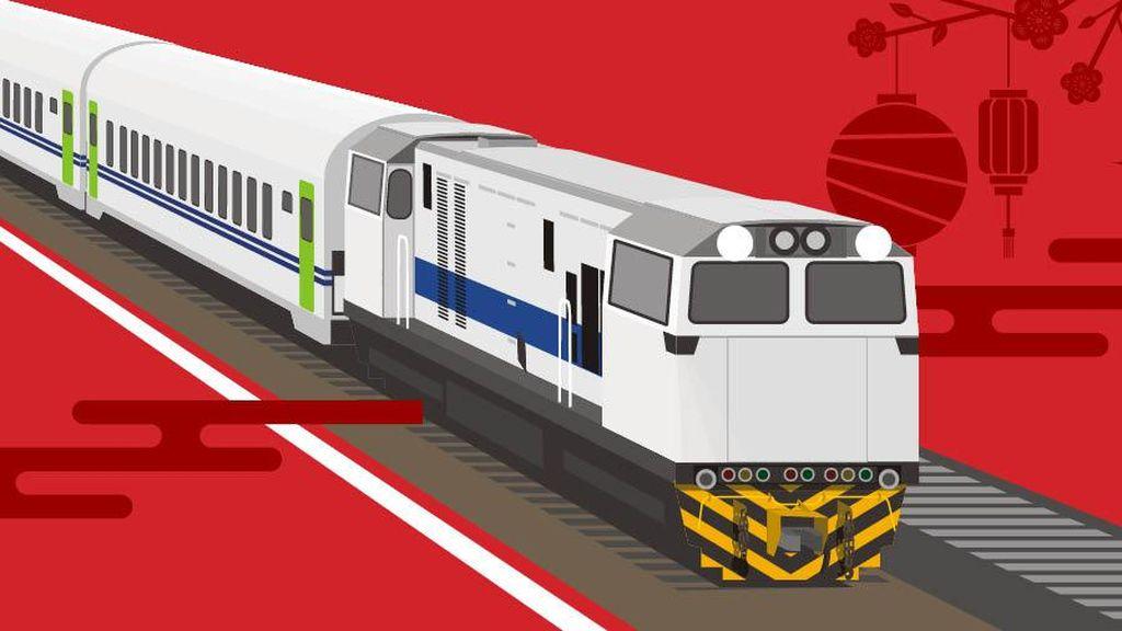 Naik Kereta, 10 Ribu Orang Tinggalkan Jakarta Jelang Imlek