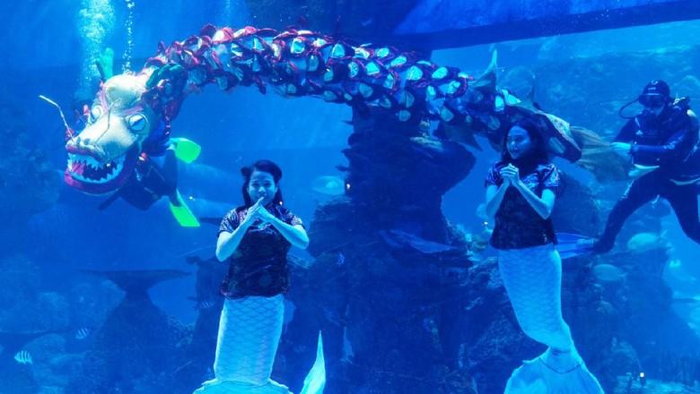 Imlek di Jakarta Aquarium.