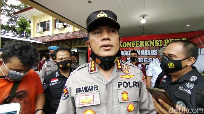 Kabid Humas Polda Jateng Kombes Iskandar Fitriana di Mapolres Rembang, Kamis (11/2/2021).