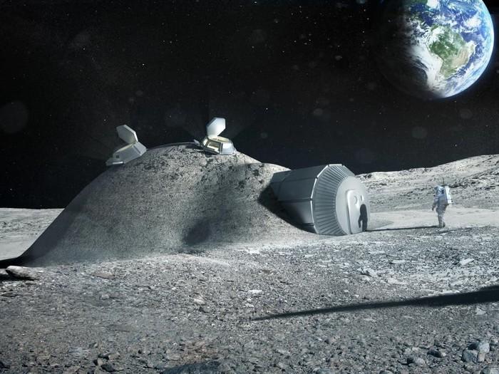 Pabrik di permukaan Bulan