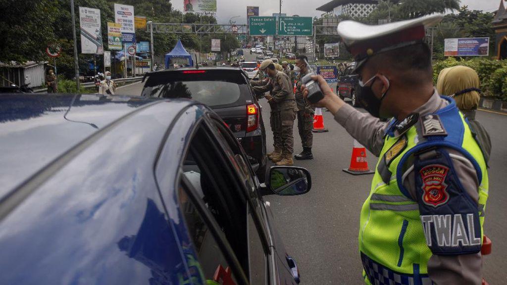 Ratusan Kendaraan Kena Operasi Rapid Antigen di Puncak Bogor